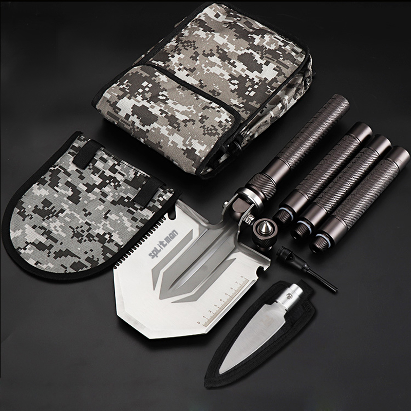 94cm Multi Tools Military Shovel Camping Fishing Folding Shovel Outdoor Survival Knife EDC Gear High Strong Garden Spade Survive military type stainless steel folding shovel camping tool black size l