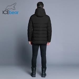 Image 4 - ICEbear 2019 new mens winter  jacket warm detachable hat male short coat fashion casual apparel man brand clothing MWD18813D