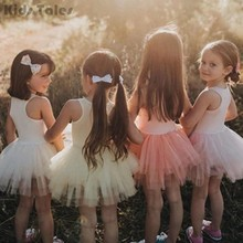 Candy Color Kids Lace Tutu Tulle Ballet Dance Skirt Baby Cute Soft Skirts Girls Rock Petticoat Party Costume KYY8191(China)