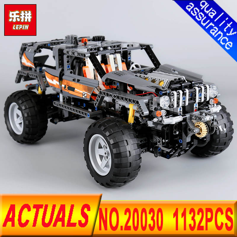 Lepin 20030 Technic Ultimate Series The 1132Pcs Off-Roader Set Children Educational Building Blocks Bricks Toys Model Gifts 8297 lepin 20030 1132pcs technik ultimate off roader cars legoingly 8297 sets building nano block bricks toys for boy gifts