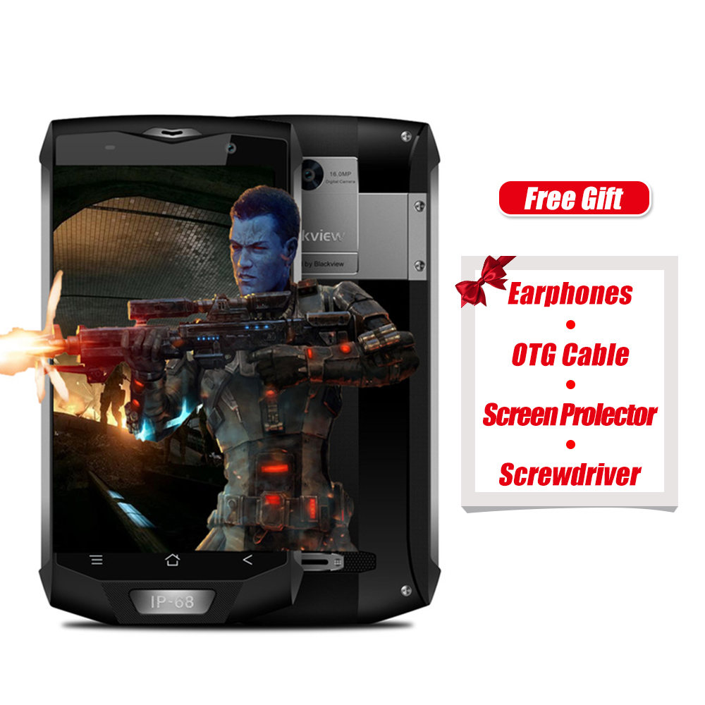 Blackview BV8000 Pro 4G IP68 Smartphone 5.0 pollice Android 7.0 MTK6757 Octa Core 2.3 GHz 6 GB + 64 GB 16.0MP Fotocamera Posteriore NFC OTG telefono