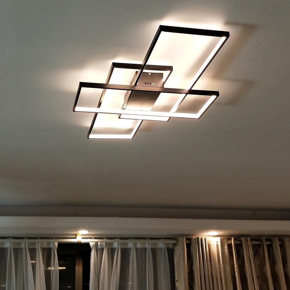 Office Ceiling Lighting: Cuboid Black/White Aluminum Acrylic LED Ceiling Lights