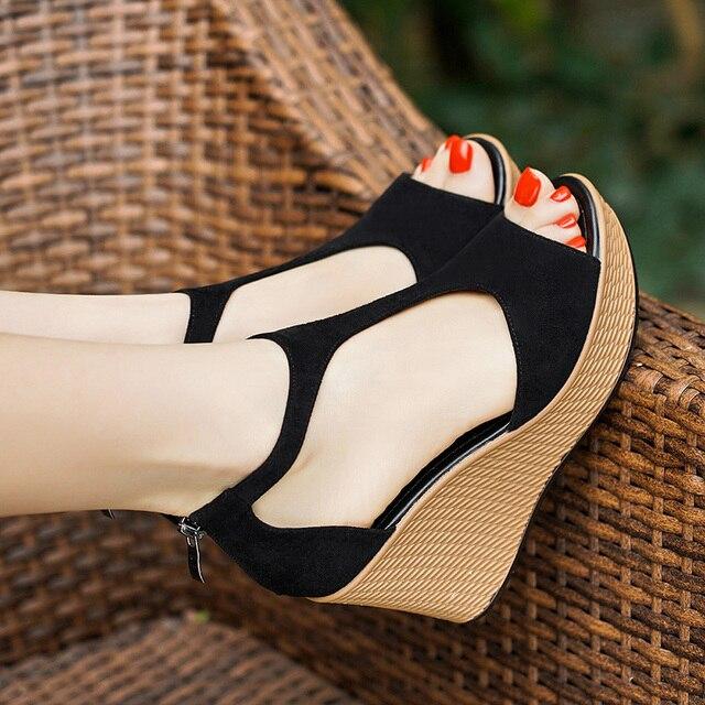 Mujer Verano Plataforma Alto Zapatos Descuentos Tacón De 2019 wTXZiuOPkl