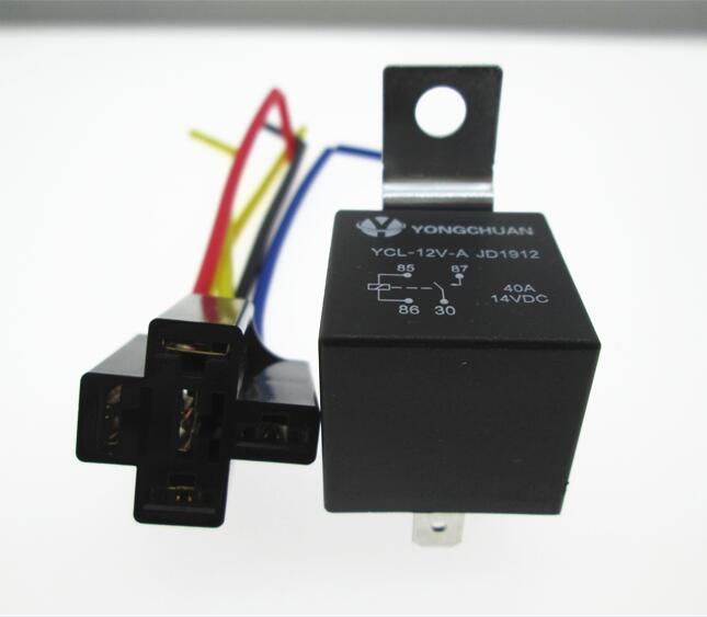 цена на NEW AUTO car 12V relay JD1912 waterproof spdt relay base 12V 12VDC DC12V 40A / 30A 4PIN