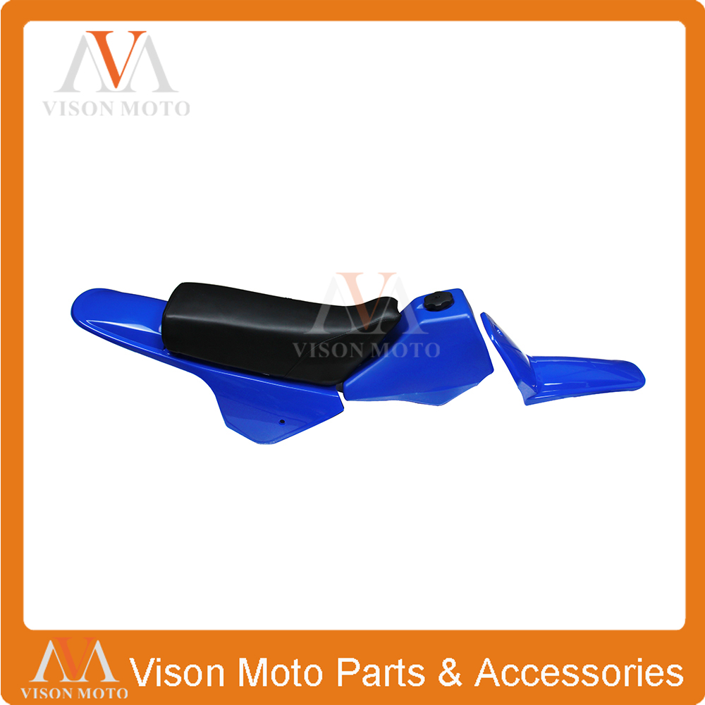 цена на Body Plastics Kits Oil Gas Tank Seat Front Rear Sheel Cover Fender For YAMAHA PW80 PY80 PW PY 80 PEE WEE PEEWEE Blue Bodywork