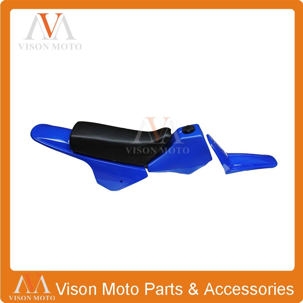 Kits de carrosserie en plastique siège de réservoir de gaz de pétrole garde-boue avant arrière pour YAMAHA PW80 PY80 PW PY 80 PEE WEE PEEWEE carrosserie bleue