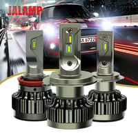Super Mini Size 12V 24V H4 H7 H1 Led H11 H9 H8 9005 9006 HB4 Car Led Headlight 6000K Auto Headlamp Metal Socket Conversion Kit