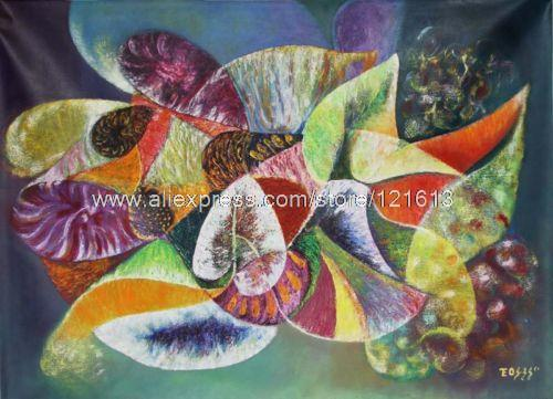 The Symphony Of Plants Painting Canvas Peruvian Surreal Art Un D Oil ...