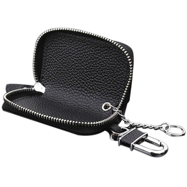 PU Leather Car Key Wallets Men Key Holder Housekeeper Keys Organizer Women Keychain Cover Zipper Key Case Bag Pouch Purse