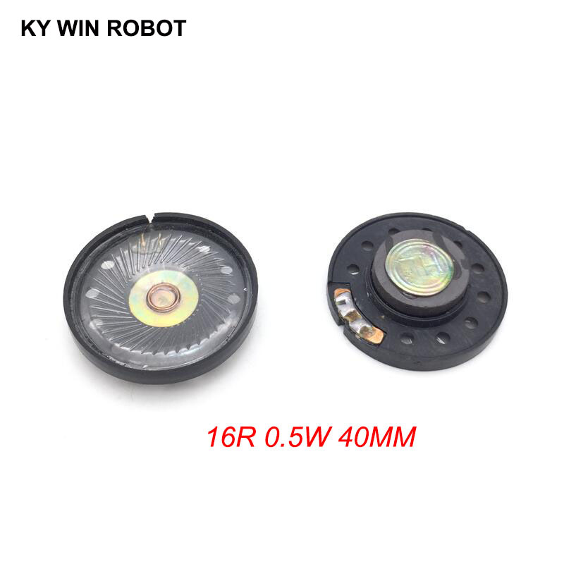 2pcs New Ultra-thin Speaker Doorbell Horn Toy-car Horn 16 Ohms 0.5 Watt 0.5W 16R Speaker Diameter 40MM 4CM Thickness 10MM