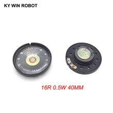 2pcs New Ultra-thin speaker Doorbell horn Toy-car 16 ohms 0.5 watt 0.5W 16R Diameter 40MM 4CM thickness 10MM