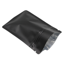 Matte White / Black Aluminum Foil Zipper Ziplock Bag Retail Food Snack Coffee Storage Waterproof Zip Lock Mylar Packaging Bags