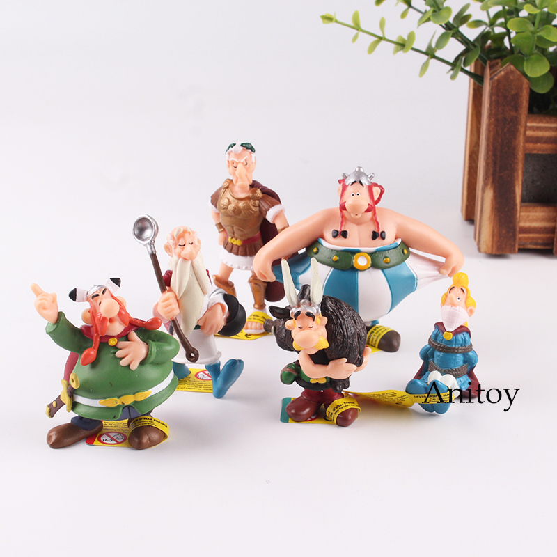 The Adventures of Asterix Action Figure Toy Asterix Obelix Getafix Vitalstatistix Action Figures Toy 4.5-8cm KT4734             The Adventures of Asterix Action Figure Toy Asterix Obelix Getafix Vitalstatistix Action Figures Toy 4.5-8cm KT4734