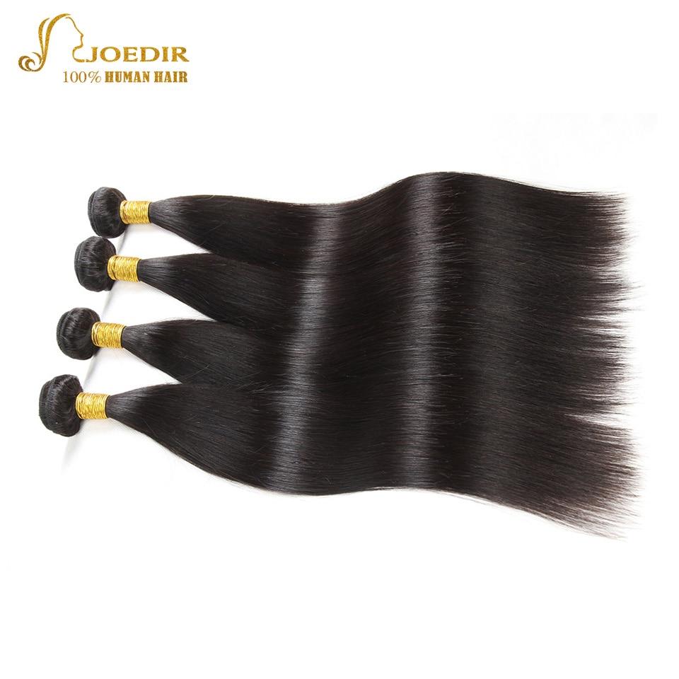 JOEDIR Pre-Colored Peruvian Straight Hair Closure 4 * 4 100% Human - Barbershop - Foto 4