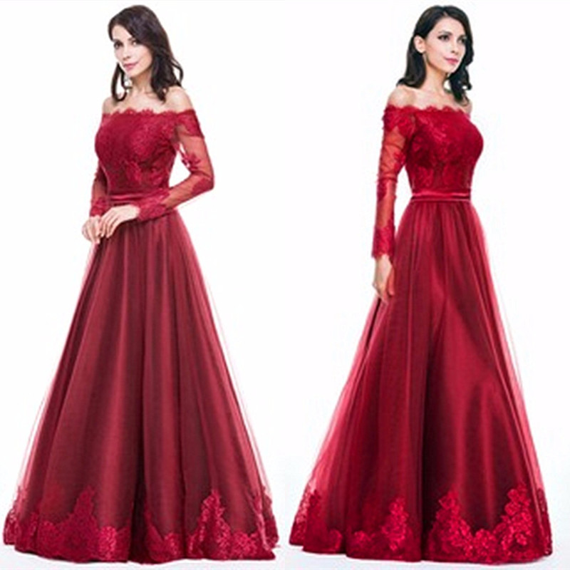 Online Buy Wholesale red lace evening gown from China red lace ...