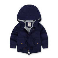 Children's Windbreaker Spring Autumn Jacket For Boy Casual Kids Trench Coat New Arrival Boy Coat Long Sleeve Hooded Boys Jackets
