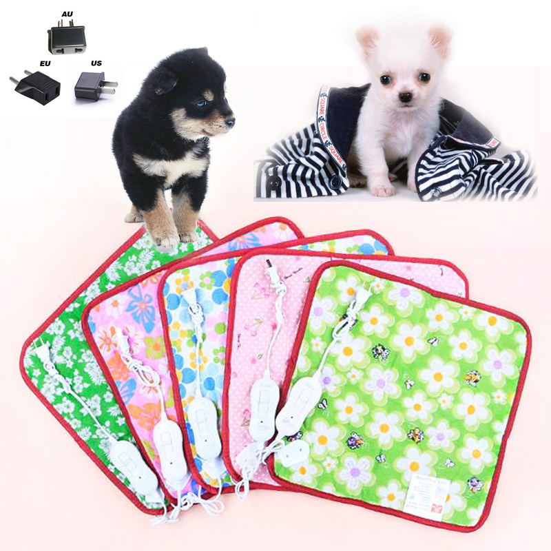 Hot Seller Colorful Pet Puppy Kitten Electric Heat Pad Two Gear Temperature 18W Dog Cat Bunny Heater Mat Blanket Bed 40*40cm