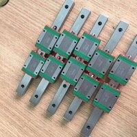 3 pces originais hiwin trilho linear mgn12-l 550mm + 3 pces mgn12c blocos lineares