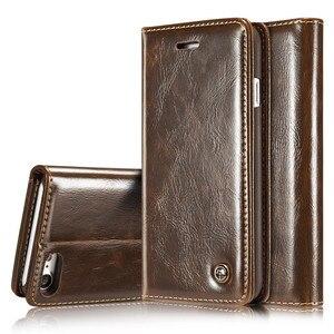 Image 1 - Flip deri iPhone için kılıf 5 5S SE 6 7 8 artı manyetik kart cüzdan kapak iPhone 11 Pro max X XR XS Max telefon kılıfı