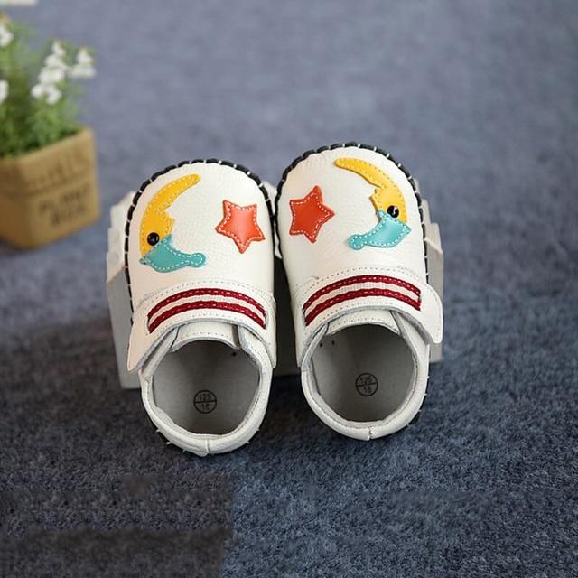 Cartoon 3 Color Design Genuine Leather  Baby Moccasin  Boys First Walker Soft Baby  Girls Shoes Bebek patik