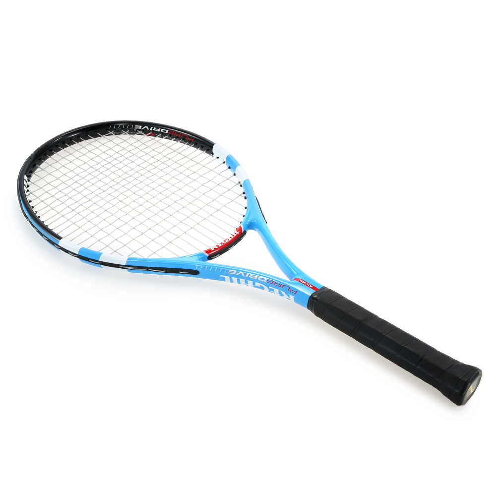 1Pc High Quality Carbon Tennis Rackets Practice Training Tennis Racquet With Cover Bag For Indoor Outdoor Men And Women Hot