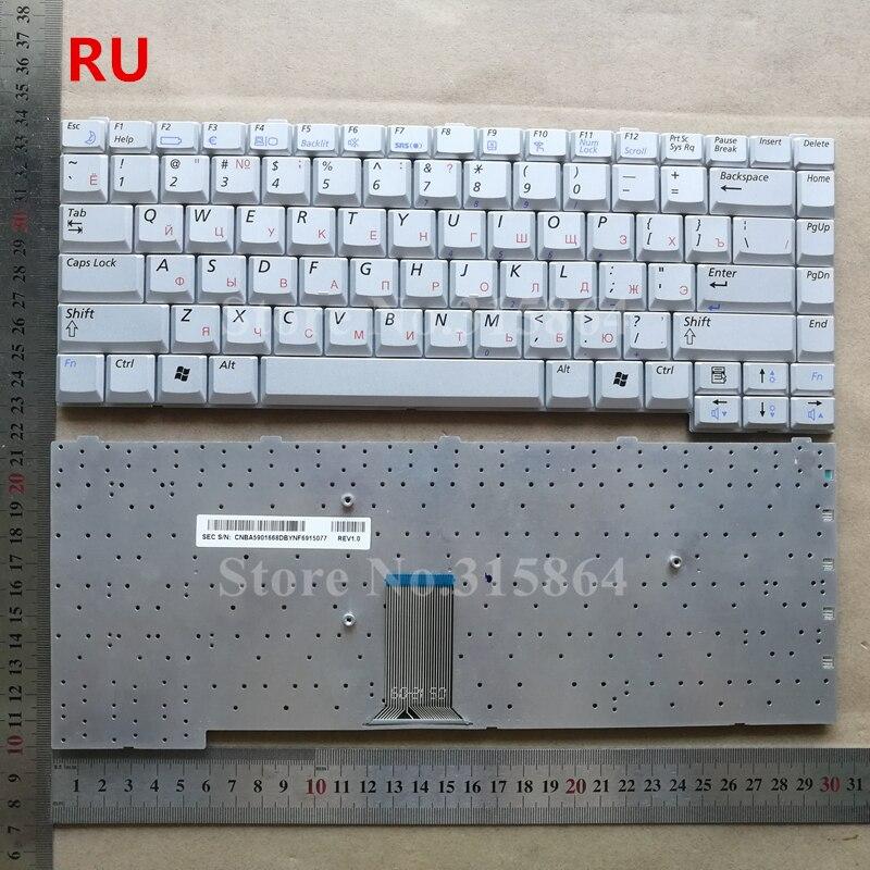 Ruso para SAMSUNG r40 r39 r41 plata teclado portátil versión RU