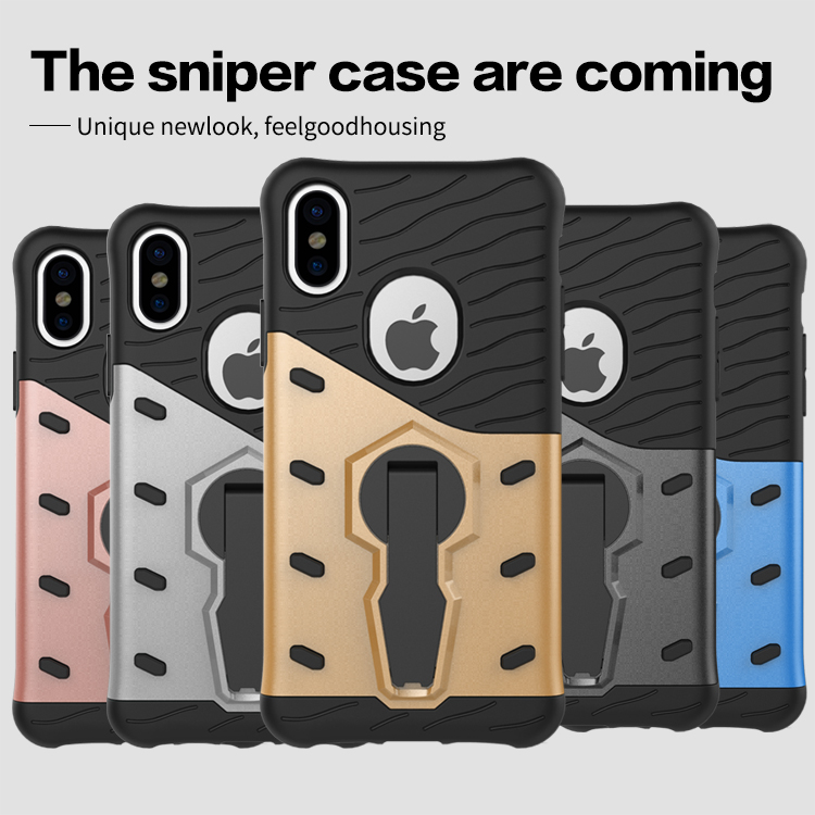 Luxury Impact Cover Iron Man Armor Soft Silicone Phone Case For Apple iPhone 8 Stand Holder 360 degree rotation Coque
