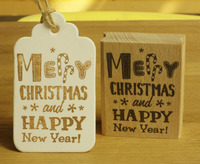 High Quality Merry Christmas And Happy New Year Desgin 6 5cm Big Pieces For Wooden Scrapbooking