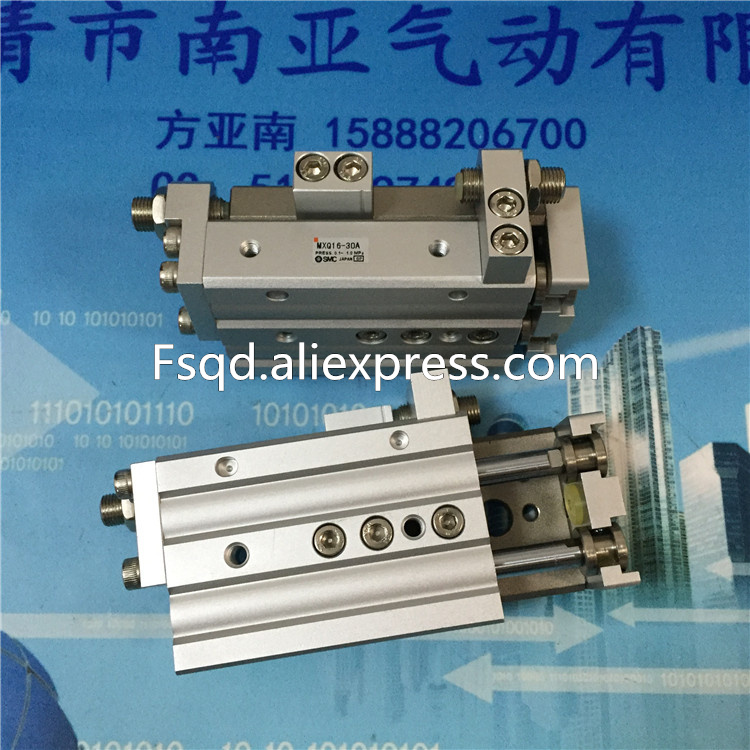 цена на MXQ16-10A MXQ16-20A MXQ16-30A MXQ16-40A SMC air slide table cylinder pneumatic component MXQ series