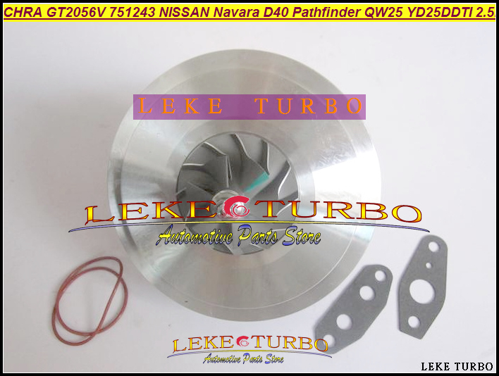 Turbo Cartridge CHRA GT2056V 751243 751243-0002 14411 EB300 14411EB300 For NISSAN Navara D40 Pathfinder R51 QW25 YD25DDTI 2.5L все цены