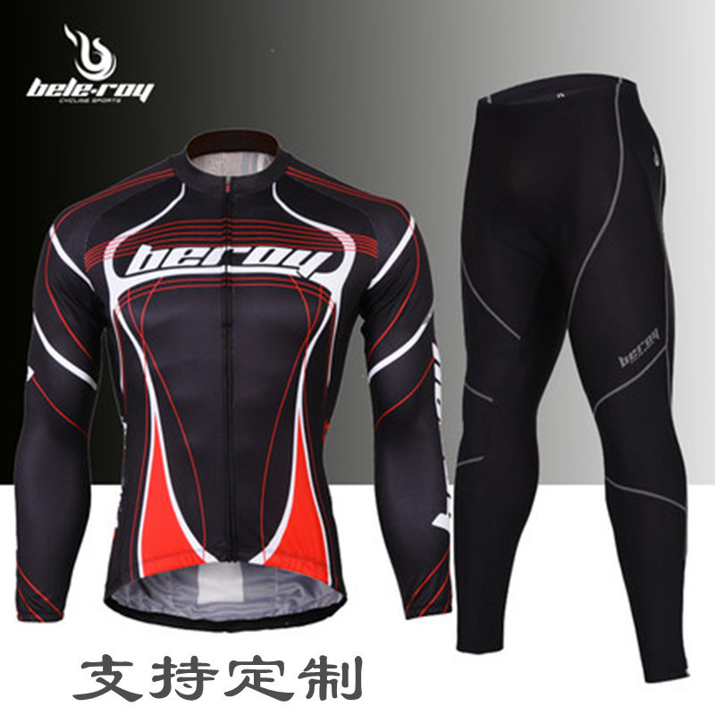 mens black Bicycle Clothes Set riding Bike Cycling Pants Jerseys Suits Long Sleeve Bicicleta Ropa Ciclismo Maillot for men