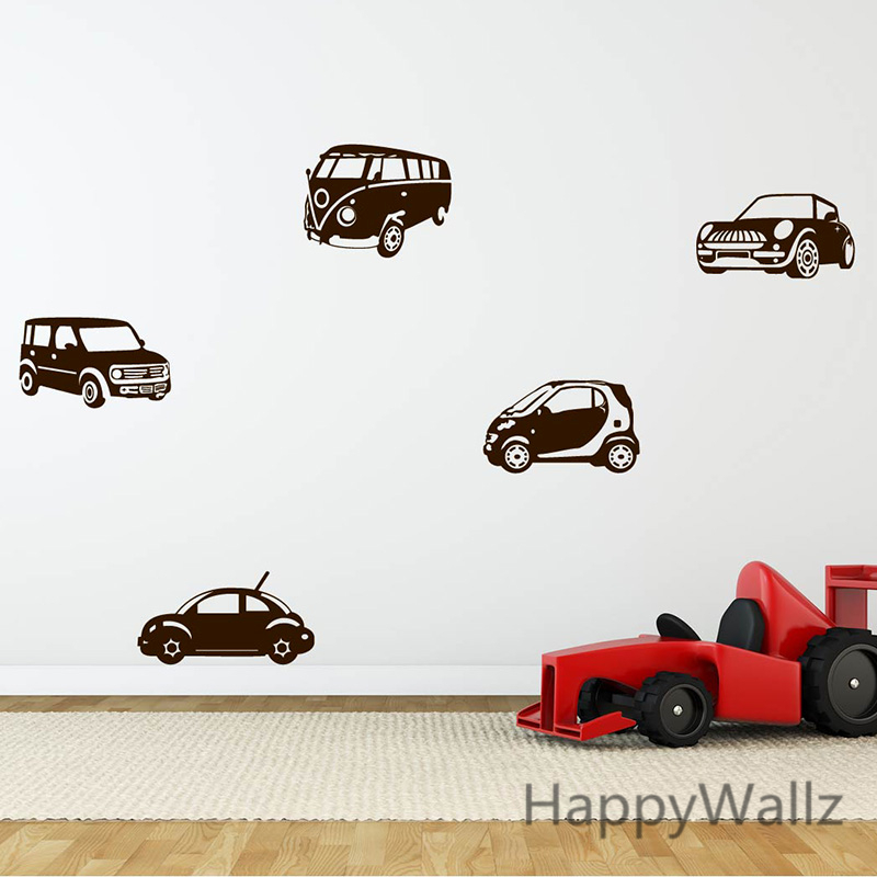 Baby Nursery Wall Sticker Cars Wall Decal Kids Room DIY Removable Wall Decal Easy Children Decors N8