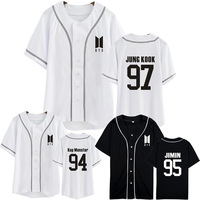 Kpop Home BTS Bangtan Boys New Logo SUGA JIN V The Same Unisex Baseball Cardigan Summer