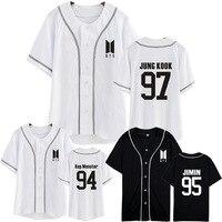 Kpop Home BTS Bangtan Boys New Logo SUGA JIN V The Same Unisex Baseball Cardigan Summer