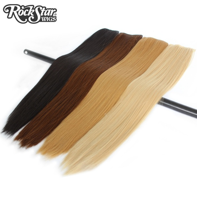 Rockstar wigs 9colors 60cm long straight 5clips in synthetic rockstar wigs 9colors 60cm long straight 5clips in synthetic extensions high temperature fier pmusecretfo Images