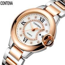 CONTENA Brand 4 Fashion colors relogio Luxury Women's Casual watches waterproof watch women fashion Dress Rhinestone watch