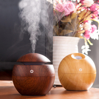 Essential Oil Diffuser 130ML LED Ultrasonic Cool Mist Aroma Air Humidifier USB Air Purifier For Office