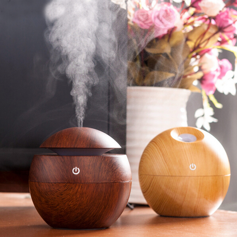 Essential Oil Diffuser 130ML LED Ultrasonic Cool Mist Aroma Air Humidifier USB Air Purifier for Office Home Bedroom Living 300ml colors changable led light essential oil aroma diffuser ultrasonic air humidifier mist maker for home& bedroom