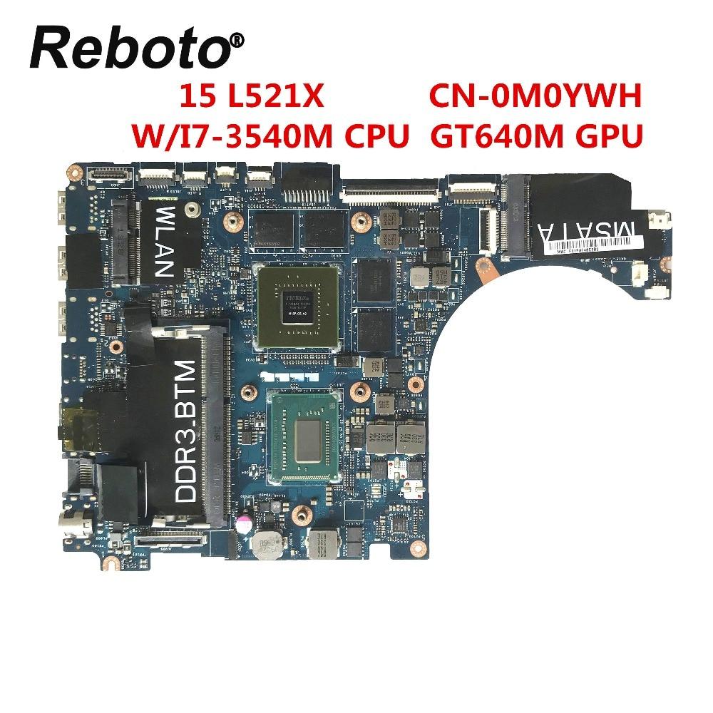 Reboto Pour Dell XPS 15 L521X Ordinateur Portable Carte Mère QBL00 LA 7851P CN 0M0YWH 0M0YWH SR0X8 I7 3540M GT640M 2 GO 100% Testé Expédition Rapide-in Cartes mères from Ordinateur et bureautique on AliExpress - 11.11_Double 11_Singles' Day 1