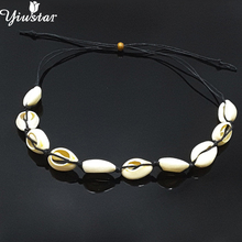 Yiustar Vintage Sea Shell Choker Necklace for Women Kids Necklaces Pendant Ocean Simple Beach Jewelry Summer Gift