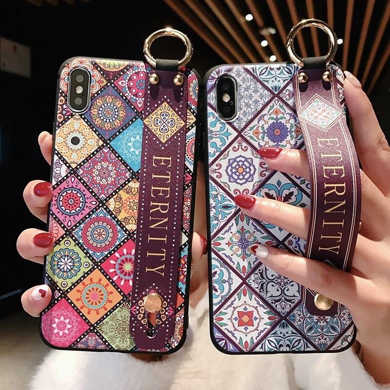 Wrist Strap Soft TPU Case For Xiaomi Redmi Note 6 Case Luxury Cover For Redmi Note 5 5A Prime 4X Case For Xiomi Mi A2 A1 8 Cover