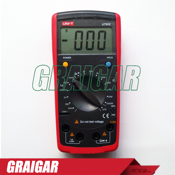 2 pcs/lot Digital Inductance Capacitance Meters UNI-T UT602 Insulation Tester RESIOSTOR Meter [randomtext category=