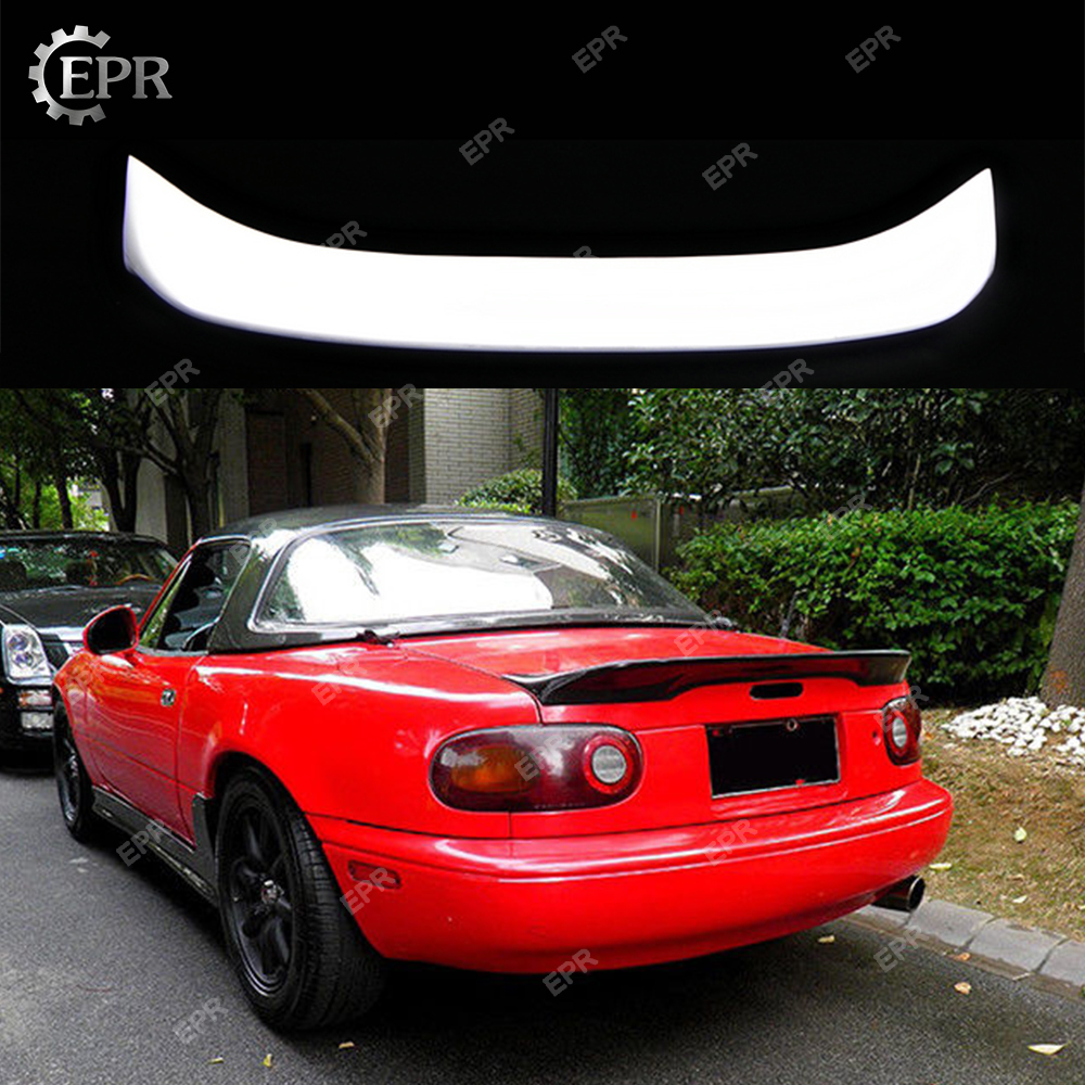 For <font><b>Mazda</b></font> MX5 <font><b>NA</b></font> MK1 Miata FRP TR Style Ducktail Glass Fiber Rear Spoiler Tuning Part Trim For MK1 Miata Fiberglass Trunk Wing image