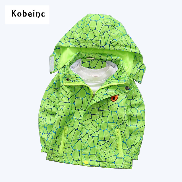 2017 New Camouflage Trench Coat for Boys Outerwear Removable Hat Jackets Kids Custume Boys Zipper Buttons Windproof Casual Coats