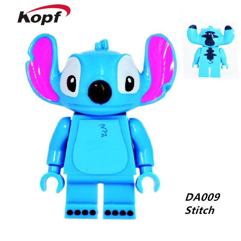 Single Sale Super Heroes Cartoon Stitch Cute Animal Groot Baby Minnie Mickey Mouse Model Building Blocks Toys for children DA009 loz building blocks mickey and minnie mouse toys for children decoration safe happy educational 9 gift