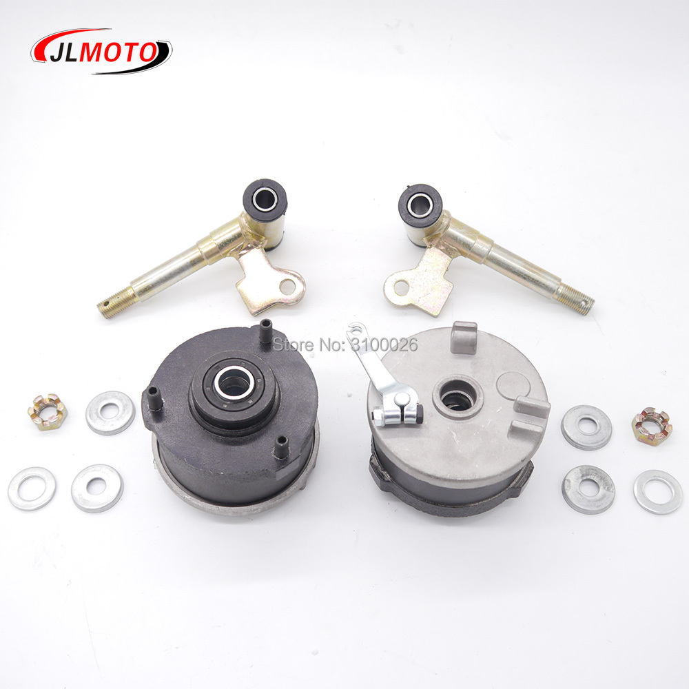 Obliging 1pair/2pcs Steering Strut Knuckle Spindle With Drum Brake Wheel Hub Fit For Atv 49cc 50cc 70cc 110cc Go Kart Buggy Bike Parts Atv Parts & Accessories Back To Search Resultsautomobiles & Motorcycles