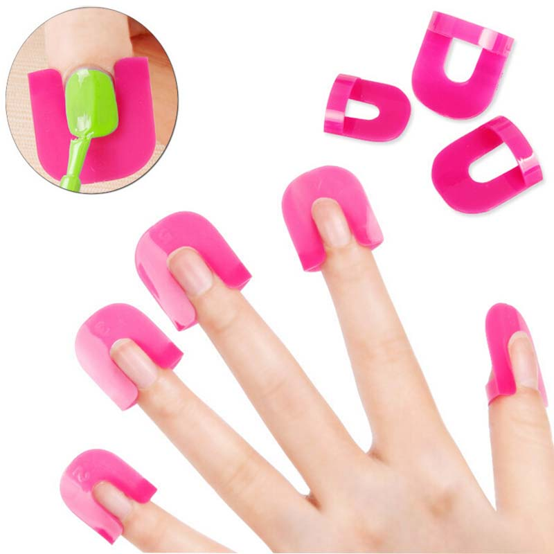 Nail art 26pcs/set nailpolish glue Model Spill Proof Manicure Protector Tools+ 1 PC French Manicure Stickers