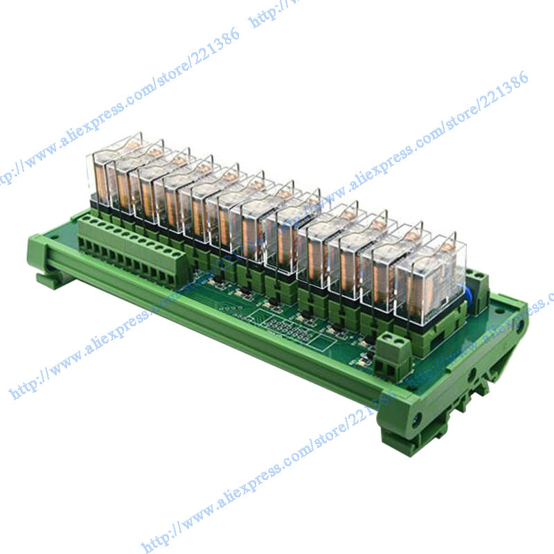 12 channels 16A 24V OMRON Relay Module PLC board Omron relay G2R 1 E Omron PNP