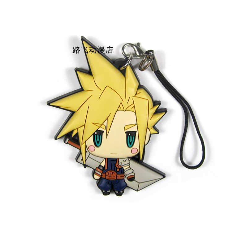Final Fantasy 30th фигурка облако Strife Bartz Klauser сквол Leonhart Lightning мобильный телефон школьный резиновый брелок 6 см