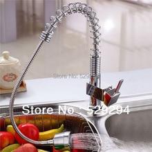 Кухонная Раковина кран водопроводный кран с pull out гибкая спрей латунный корпус хромирование бортике Бар кран XK-007